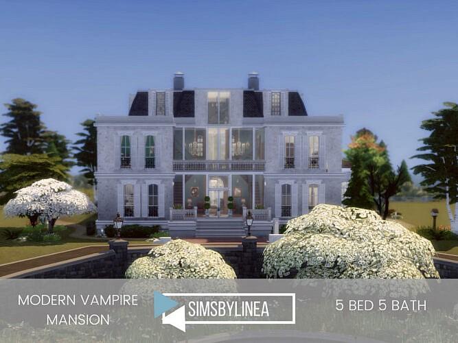 Modern Vampire Mansion By Simsbylinea