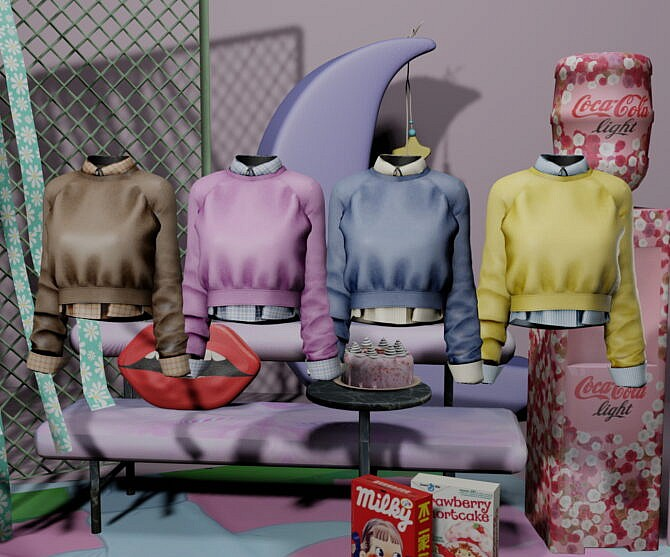 Sims 4 Chill with you clothing set at NEWEN