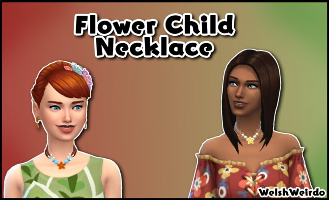 Flower Child Necklace By Welshweirdo