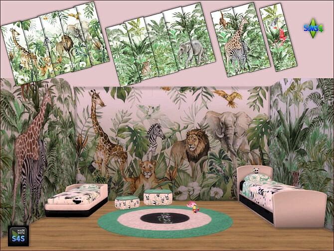 Sims 4 Murals and matching wallpapers at Arte Della Vita