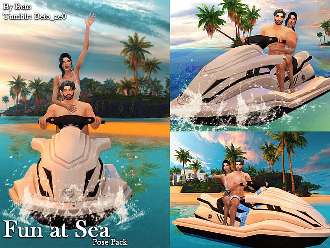 Fun At Sea (pose Pack) By Beto_ae0