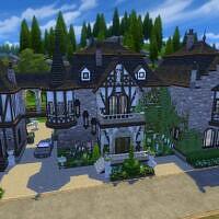 Tudor Family Manor W/guest Wing By Dixie Nourmous
