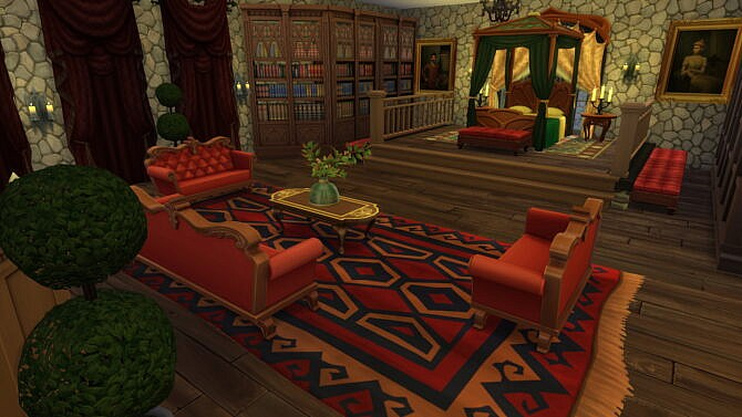 Sims 4 Fully furnished Medieval Castle by bradybrad7 at Mod The Sims 4