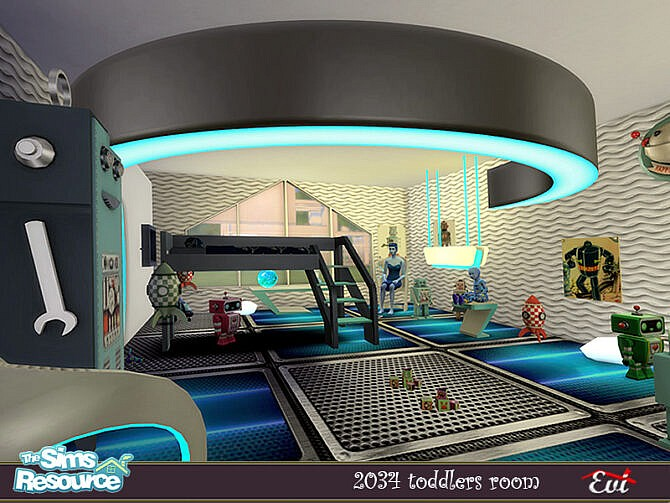 Sims 4 2034 Kids room by evi at TSR
