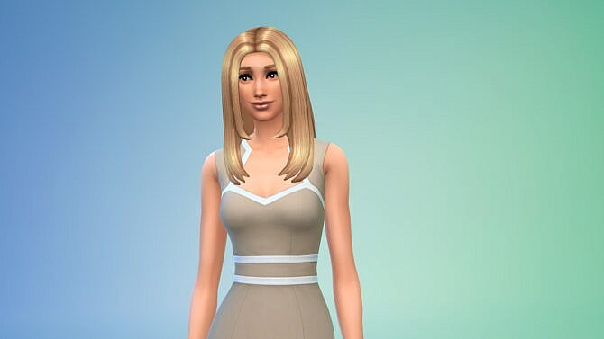 Sims 4 Center Part Hair by kakadimiel1200 at TSR