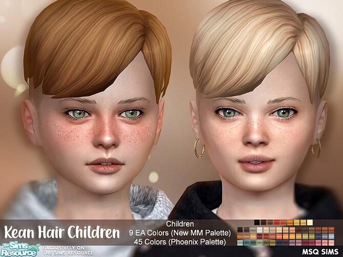 Sims 4 Kean Hair Children at MSQ Sims