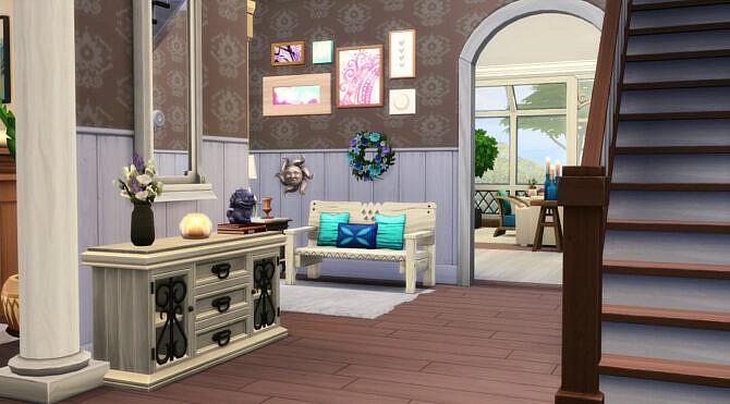 Sims 4 Winden Cove House CC free at Jenba Sims