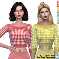 Spring Checked Cropped Sweater By Pinkfizzzzz