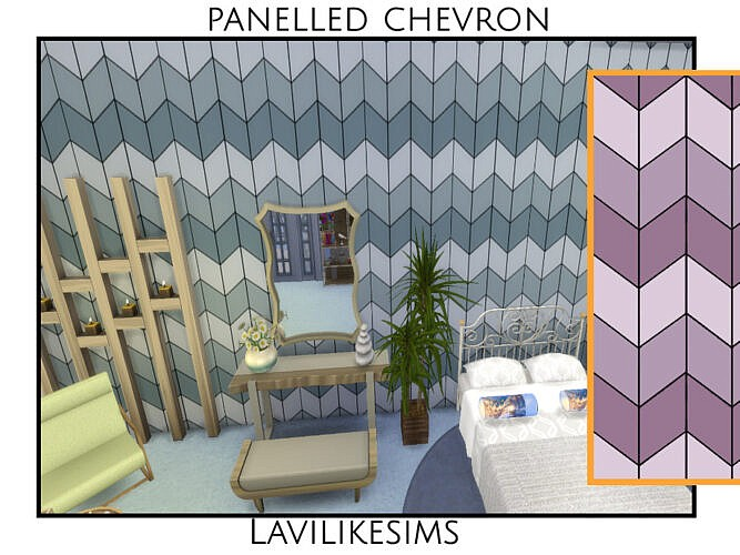 Panelled Chevron By Lavilikesims