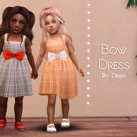 Bow Dress Toddler By Dissia