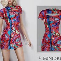 V Minidress By Turksimmer
