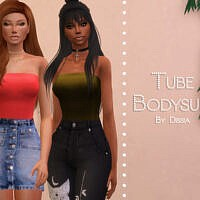 Tube Bodysuit By Dissia