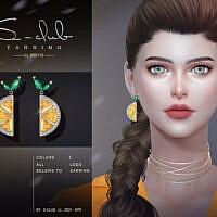 Lemon Earrings 202112 By S-club Ll