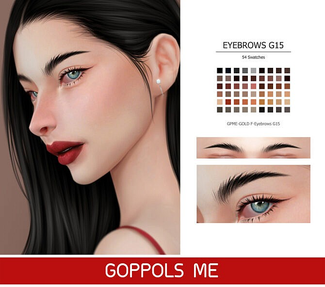 Sims 4 GPME GOLD F Eyebrows G15 at GOPPOLS Me