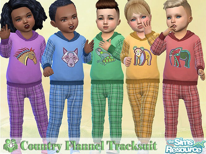 Country Flannel Tracksuit By Pelineldis