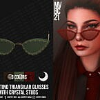 Metal Glasses With Crystal Studs
