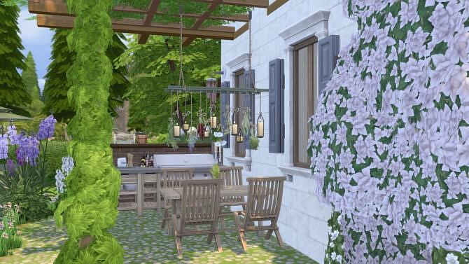 Sims 4 Glycine house at SimKat Builds