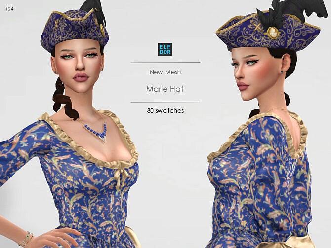 Sims 4 Hat Marie at Elfdor Sims