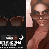 Cat-eye Acetate Frame