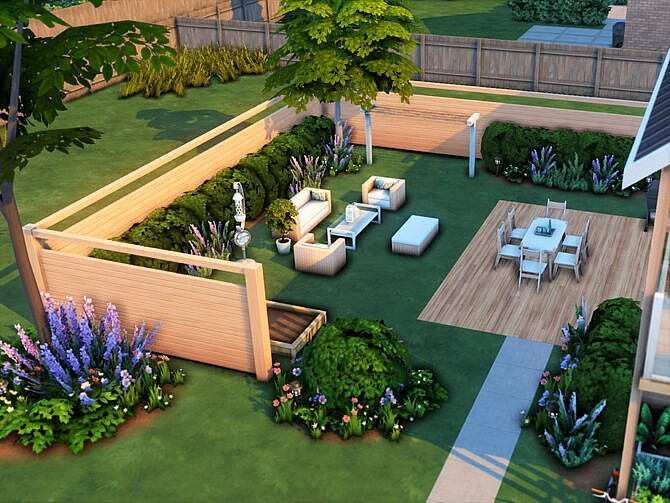 Sims 4 Roughhewn house by xogerardine at TSR