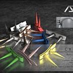 Cyber Hair Clips R By Ade_darma