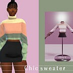 Chic Winter Sweater By Akaysims
