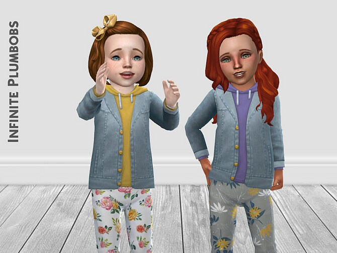 Sims 4 Denim Jacket Colour Hoodie by InfinitePlumbobs at TSR