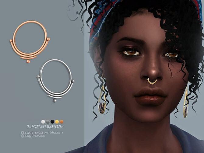 Sims 4 Imhotep septum by sugar owl at TSR