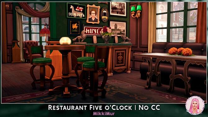 Sims 4 Restaurant Five OClock at MikkiMur