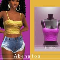 Abena Bodice Top By Akaysims