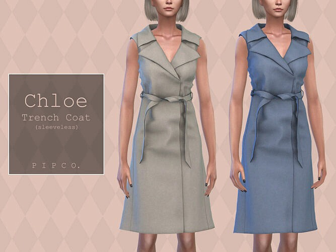 Chloe Trench Coat (sleeveless) By Pipco