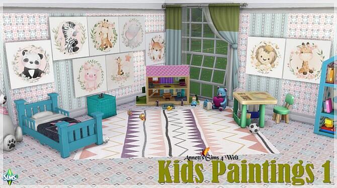 Sims 4 Kids Paintings 1   3 at Annett's Sims 4 Welt