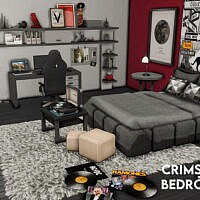 Crimson Bedroom By Xogerardine