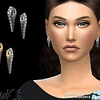 Needle Crystal Earrings By Natalis