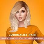 Journalist Messy Hair