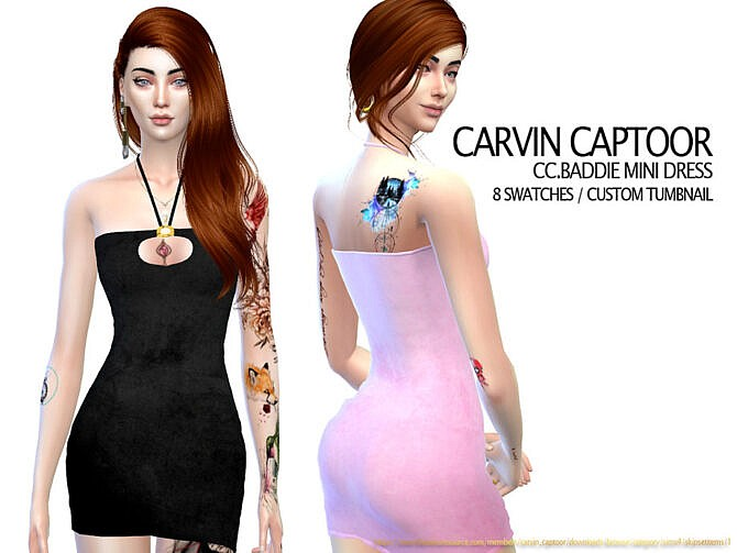 Sims 4 Baddie Mini Dress by carvin captoor at TSR