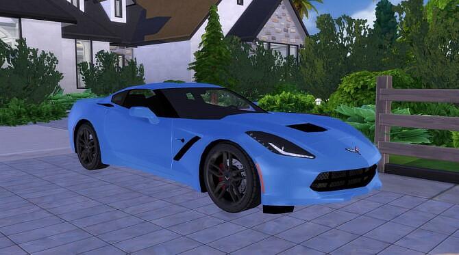 Sims 4 2014 Chevrolet Corvette C7 Z51 Stingray at Modern Crafter CC
