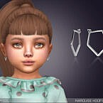 Marquise Hoop Earrings For Toddlers By Feyona