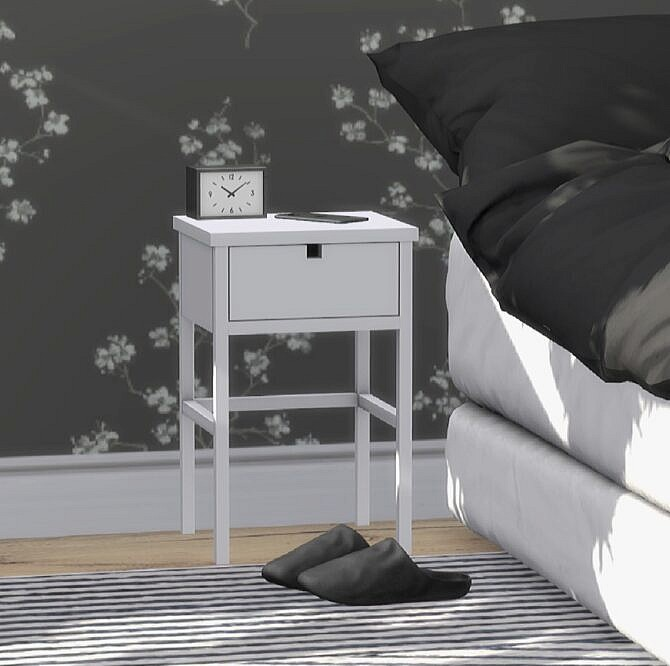 Sims 4 Square Wardrobe & Nightstand at Heurrs