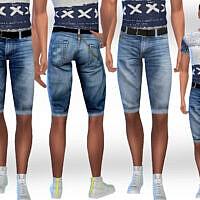 Men Denim Shorts By Saliwa