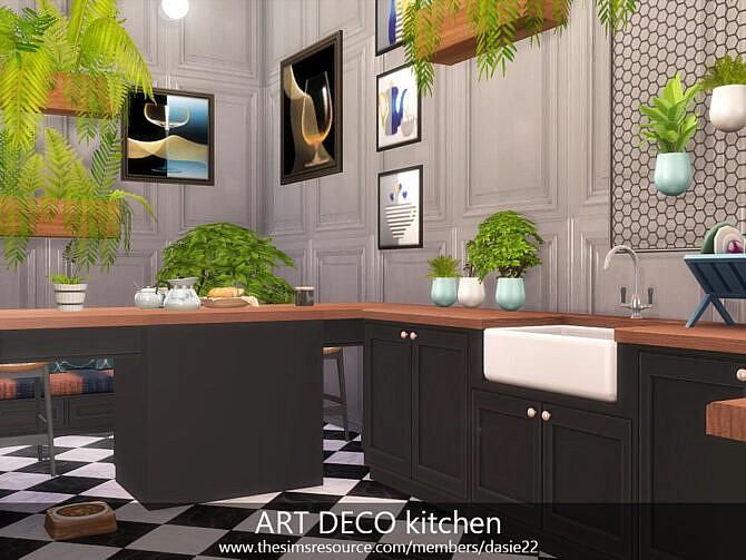Sims 4 ART DECO kitchen by dasie2 at TSR