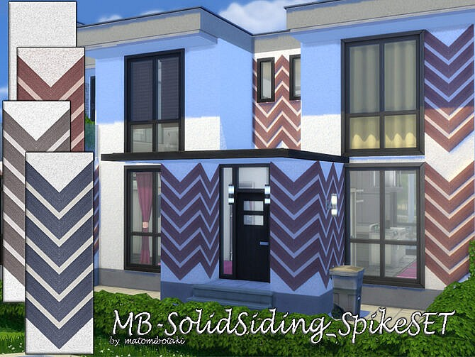 Sims 4 MB Solid Siding Spike SET by matomibotaki at TSR