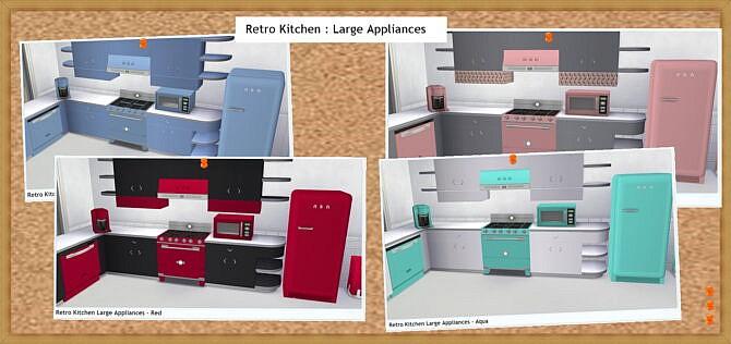 Retro Kitchen Large Appliances