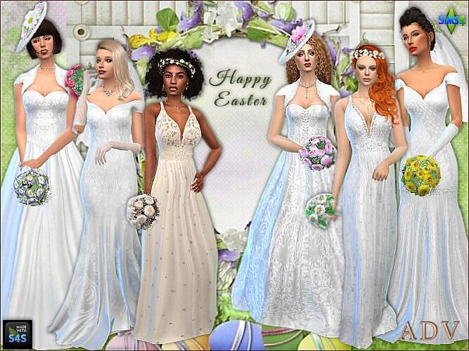 Wedding Set: Bride Dresses And Accessories