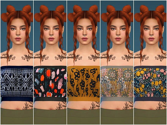 Sims 4 Carrie Tube Top at Katverse