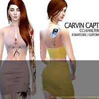 Halter Top Set By Carvin Captoor