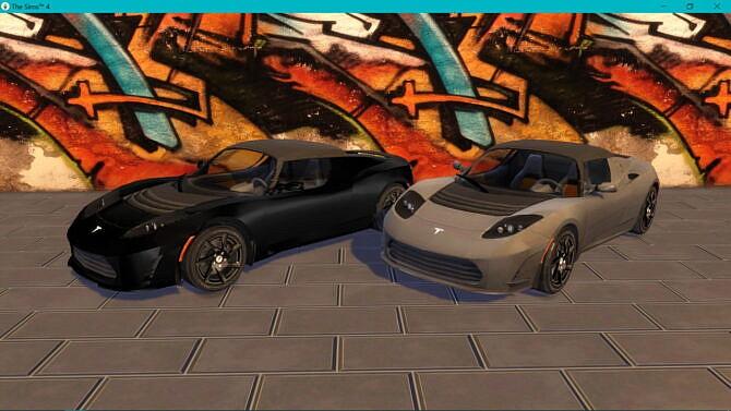 Sims 4 2011 Tesla Roadster 2.5 at LorySims