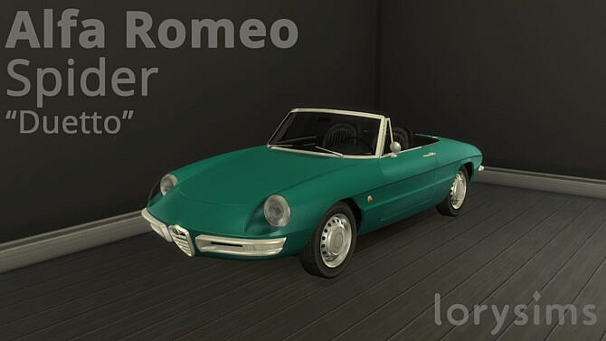 Sims 4 1966 Alfa Romeo Spider Duetto at LorySims