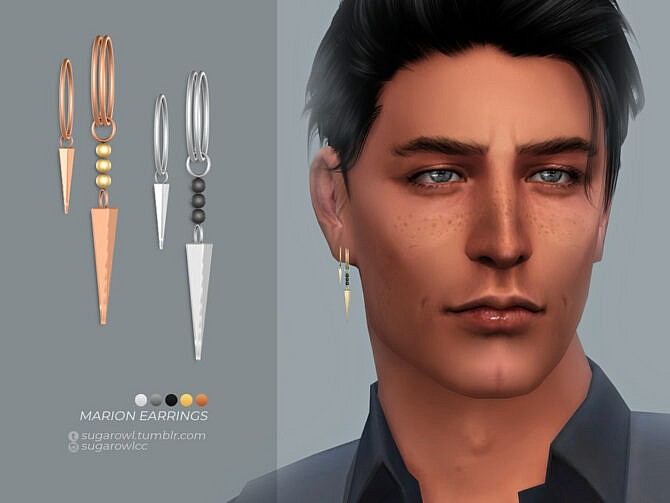 Sims 4 Marion earrings | Right by sugar owl at TSR