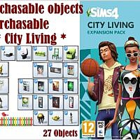 Not Purchasable Objects Now Purchasable * City Living